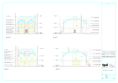 House Elevations Draughtsman
